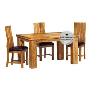 Acacia Wooden Dining Table Set