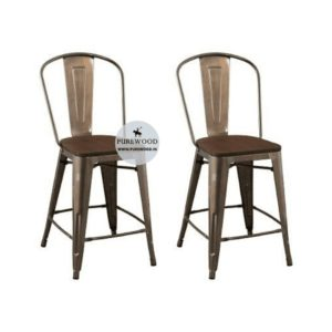 Industrial Dining Chair Set