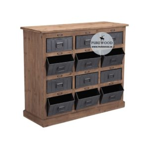 Industrial Pine Wood Furniture Cabinet