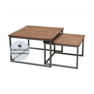 Industrial Square Coffee Table set