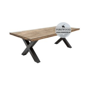 Industrial Table with Cross Lag