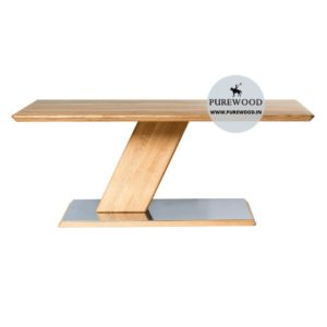 Industrial Table with Iron Base