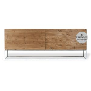 Oak Wood Furniture Industrial Sideboard