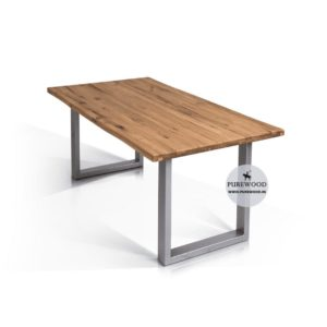 Oak Wood Furniture Industrial Table