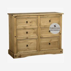 Pine Wood Furniture Sideboard