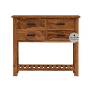 Sheesham Wood Table Cum Drawer