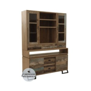 Solid Wood Vitrine Cabinet