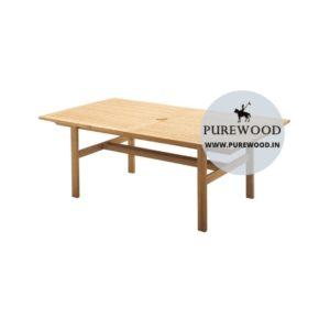 Solid Wooden Outdoor Dining Table
