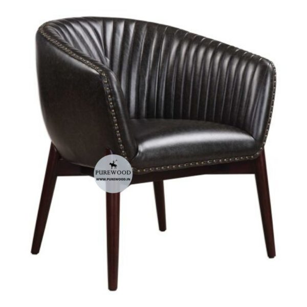 Club Style Leather Chesterfield
