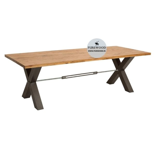 Industrial Cross Lag Dining Table