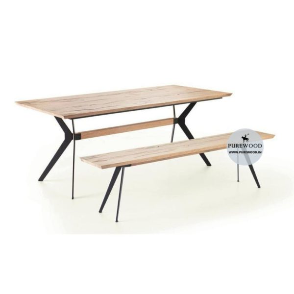 Stylis Industrial Table with Bench